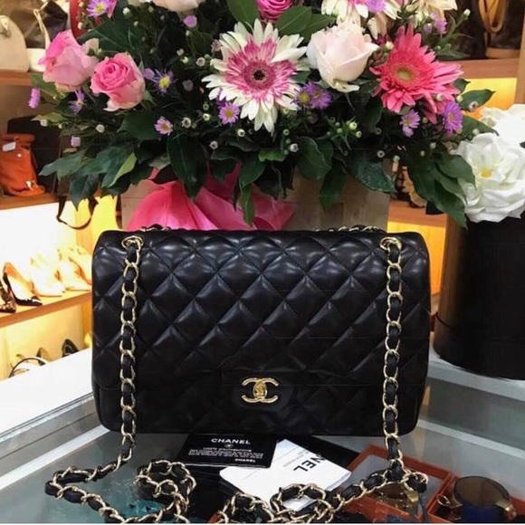 856618c1529cd2 CHANEL Bags | Sold Black Quilted Classic Jumbo Double | Poshmark